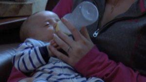 Alorah Gellerson Feeds Her Son Carson